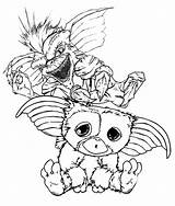 Gremlins Coloring Pages Gizmo Gremlin Drawing Colouring Printable Sketch Sheets Tattoo Horror Cartoon Print Scary Movies Sketchite Quote Getdrawings Ghostbusters sketch template