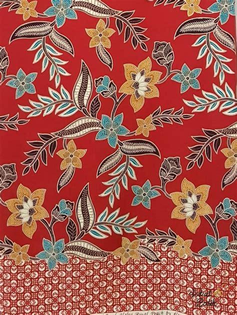 Sebab kita tahu, batik merupakan kain tradisional khas nusantara yang memiliki beragam jenis dari berbagai penjuru daerah di indonesia, bahkan sudah diakui dunia sebagai warisan kemanusiaan untuk budaya lisan. Jual Kain Batik Semi Sutra Motif 80733 Merah - Jakarta ...