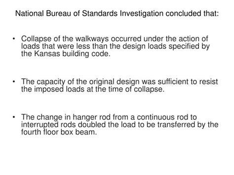 national bureau of standards ppt the hyatt regency walkway collapse powerpoint presentation id 1541410