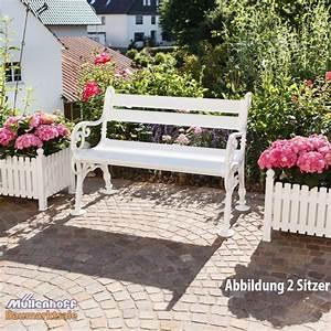 Gartenbank Weiß Metall : gartenbank landhausbank blome linderhof 2 sitzer wei metall profiltr ger ebay ~ Watch28wear.com Haus und Dekorationen