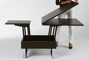 Table Basse Multifonction : table basse convertible en table a manger maison design ~ Premium-room.com Idées de Décoration