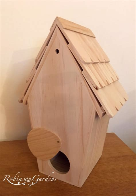 burley wooden bird box nesting box tit box  robinson garden