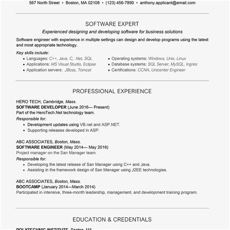 Resume Writing Business Software by Software Developer Cover Letter And Resume Exle