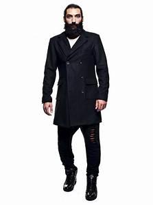 Trench Coat Homme Long : veste trench long homme noir chic tendance stratom ~ Nature-et-papiers.com Idées de Décoration
