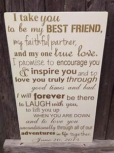first anniversary gift for him wedding vows sign by With wedding vows gifts ideas