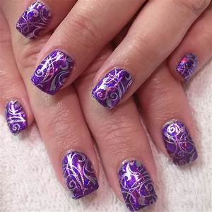 Purple nail art designs ideas design trends