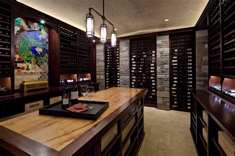 Lake Washington Man Cave   Contemporary   Wine Cellar