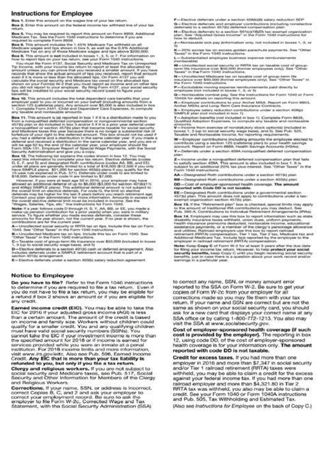 form   instructions  employee printable