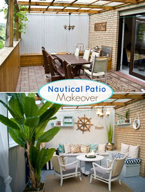 Nautical Beach Patio Makeover  Before And After Pictures. Bathroom Vanity Ideas Canada. Diy Ideas Mothers Day. Board Name Ideas. Landscape Ideas On Hillsides. Kitchen Decorating Ideas And Projects Pdf. Laundry Closet Makeover Ideas. Office Party Venue Ideas. Pumpkin Carving Ideas For Newborns
