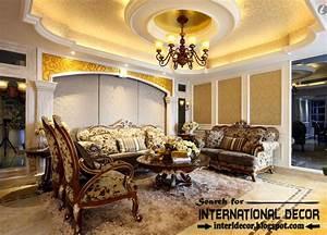15 modern pop false ceiling designs ideas 2017 for living room for Interior ceiling design for living room