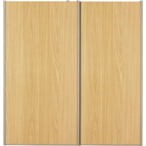lot de 2 portes de placard coulissantes naturel 120x120cm leroy merlin