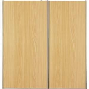 Porte Placard Coulissante Bois : lot de 2 portes de placard coulissantes naturel 120x120cm leroy merlin ~ Teatrodelosmanantiales.com Idées de Décoration