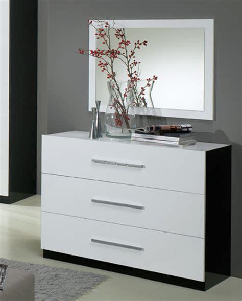 commode 3 tiroirs gloria noir et blanc blanc noir