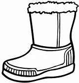 Boots Coloring Winter Boot Snow Pages Drawing Cowboy Rain Clipart Shoes Line Clip Printable Hiver Clothes Activite Cliparts Clipartmag Shoe sketch template
