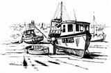 Boat Coloring Fishing Dock Broken Kidsplaycolor Boats Drawings Play sketch template