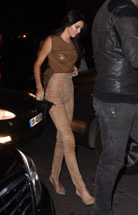 Kendall Jenner Night Out Style u2013 at Le Six Seven in Paris October 2015 u2013 celebsla.com