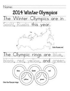 winter worksheets images worksheets olympic