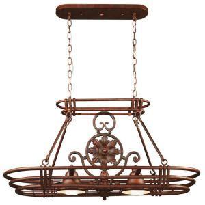 home depot pot rack kenroy home dorada 2 light gilded copper 8 hook pot rack