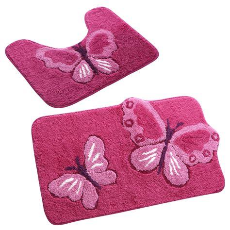 tapis de bain fantaisie papillons blancheporte