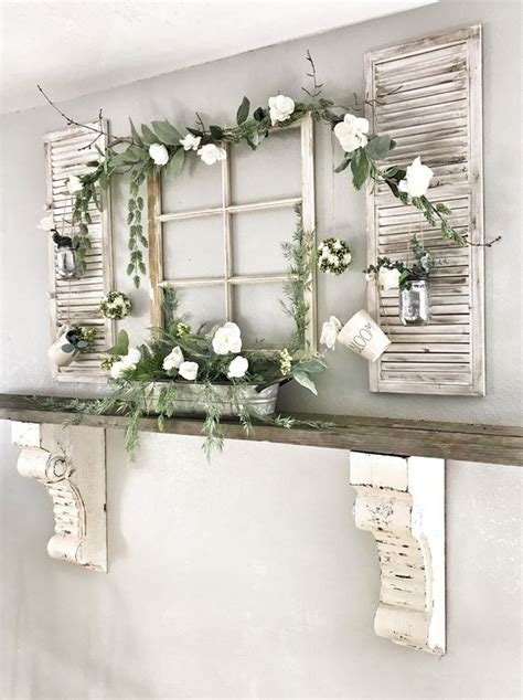 Window Mantle by 25 Ways To Reuse Shutters In Home Decor Digsdigs