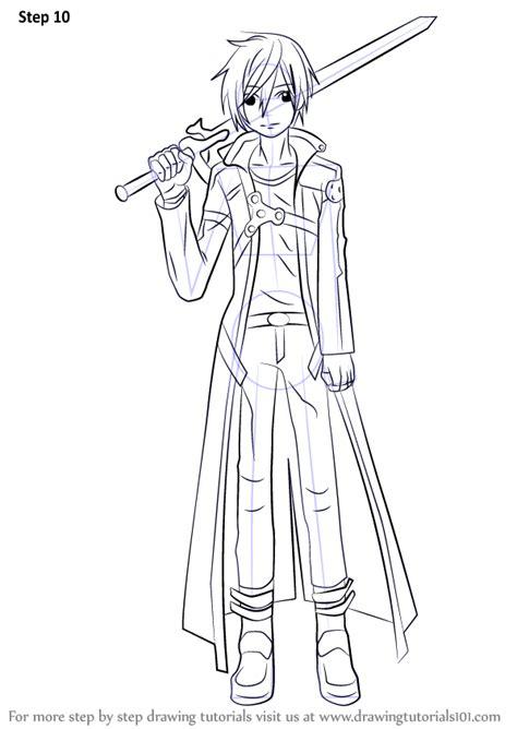 learn   draw kirito  sword art  sword art
