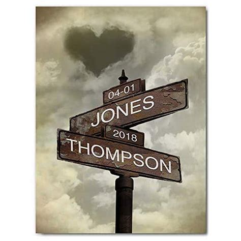 amazoncom personalized lovers crossroads street sign art