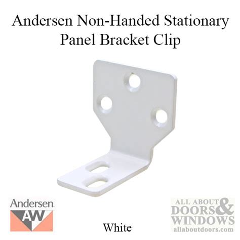 non handed stationary panel bracket clip with screws for