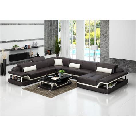 canape d angle en u canapé d 39 angle panoramique en cuir xl pop design fr