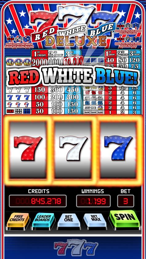 777 Slots Deluxe - FREE Red White Blue Slot Machine Game