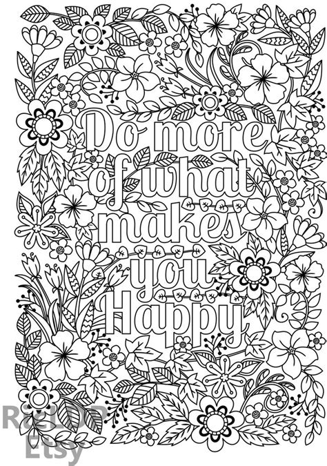 happy printable coloring page downloadable coloringforadults