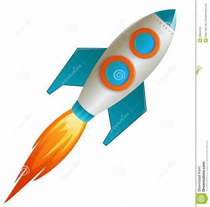 Rocket Vector Cartoon Illustration Background Icon Rockets