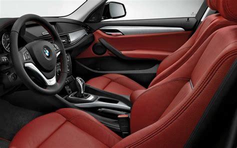 The Bmw X1 With Coral Red Nevada Leather Interior.