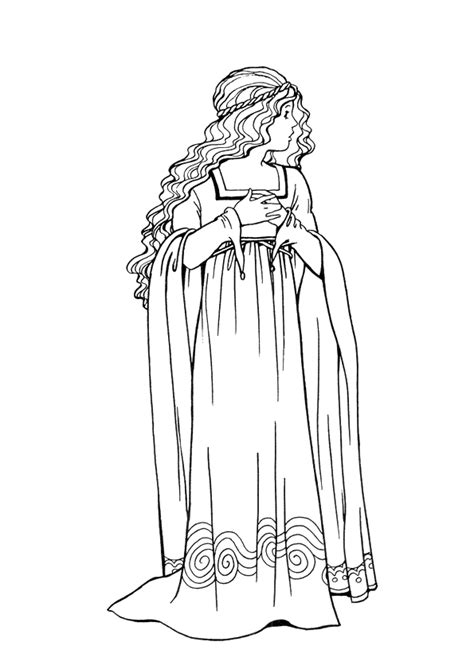coloriage princesse robe