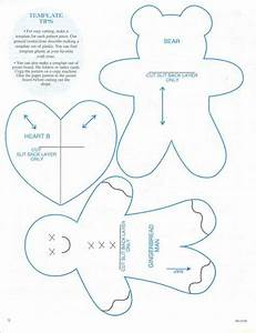 christmas ornaments templates gingerbread man bear and With felt gingerbread man template