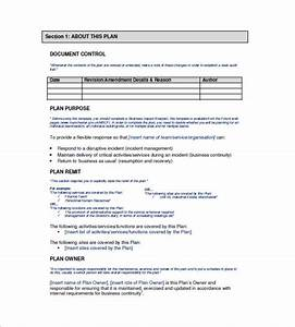 12 business continuity plan templates word excel pdf With business continuity plan template australia