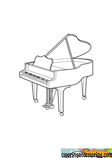 piano coloring pages free piano coloring pages