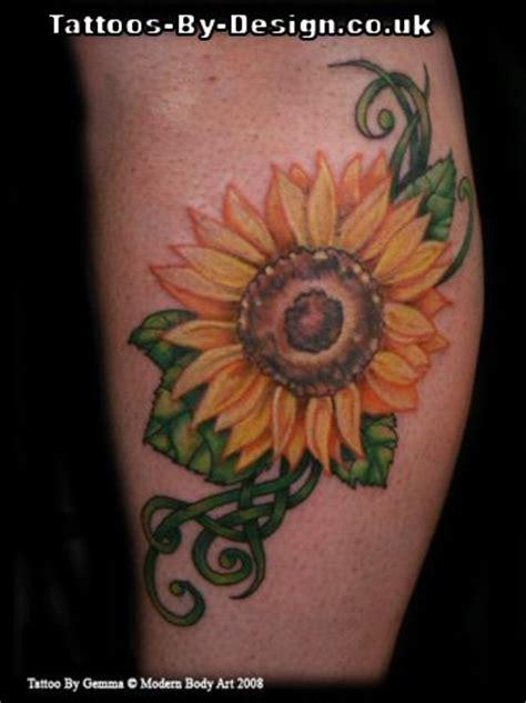 celtic sunflower tattoo