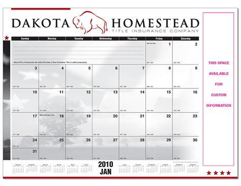 real estate desk calendars dakota homestead title desk pad calendars