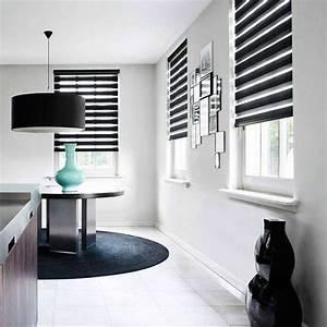 Store Enrouleur Bois : store enrouleur jour nuit filtrant noir xxl02 ~ Premium-room.com Idées de Décoration
