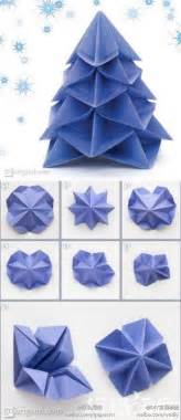 how to make paper craft origami christmas trees step by step diy tutorial instructions how to