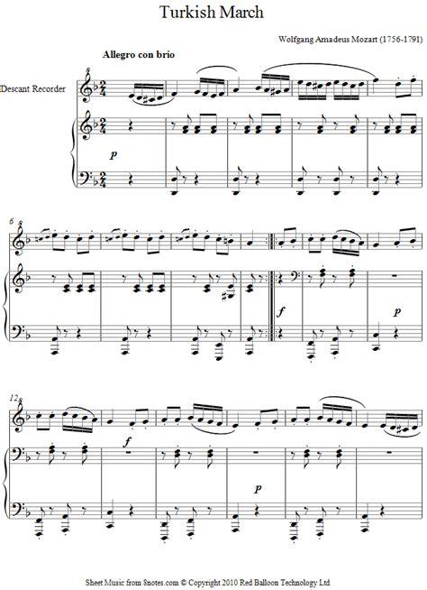 not lagu maju tak gentar mozart march sheet for recorder 8notes com