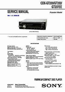 Sony Cdx-gt230  Cdx-gt232  Cxs-gt2313 Service Manual