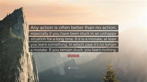 eckhart tolle quote  action
