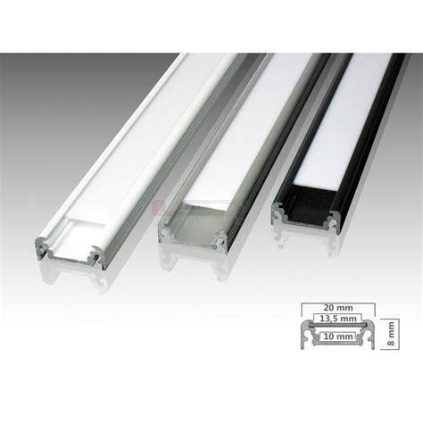 Led strips aluminium profiel STANDARD in aluminium, zwart