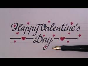 how to write in cursive - fancy letters happy valentines ...