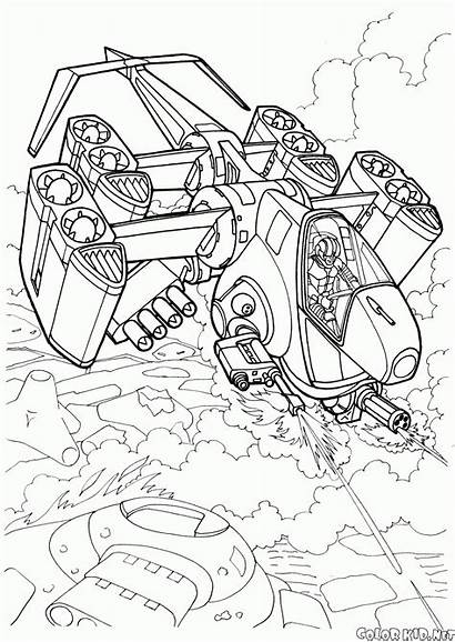 Coloring Futuristic Pages Wars Space Combat Ship