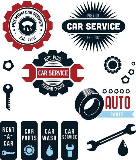 car service logo car service repair shop set vector free vectors cards