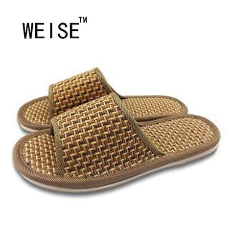 2017 summer house slippers bamboo leisure pantufas adulto man and women solid home indoor