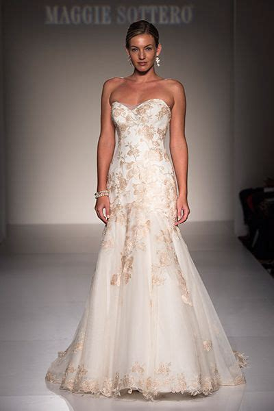 romantic dresses  rose gold accents maggie