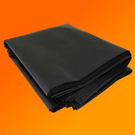 black heavy duty polythene plastic sheeting